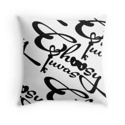 Choosy Luvas & CO Classic Logo Throw Pillow